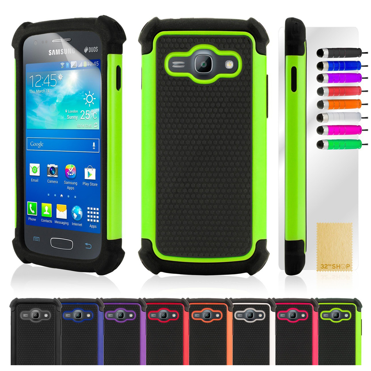 Samsung Galaxy Ace 3 S7270 Putih New Shock Proof Case Cover Fits