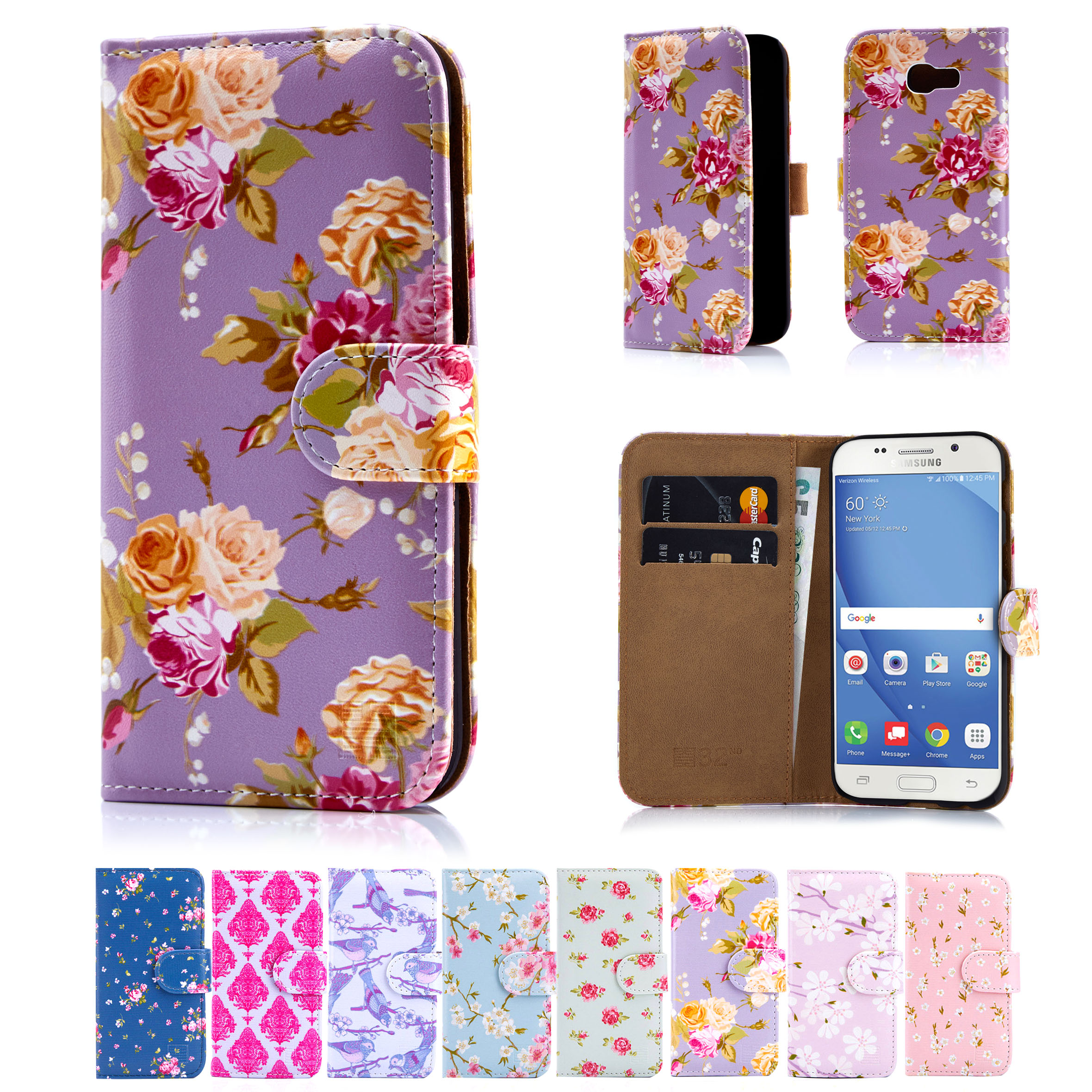 ... Book PU Leather Wallet Case Cover for Samsung Galaxy Phones : eBay