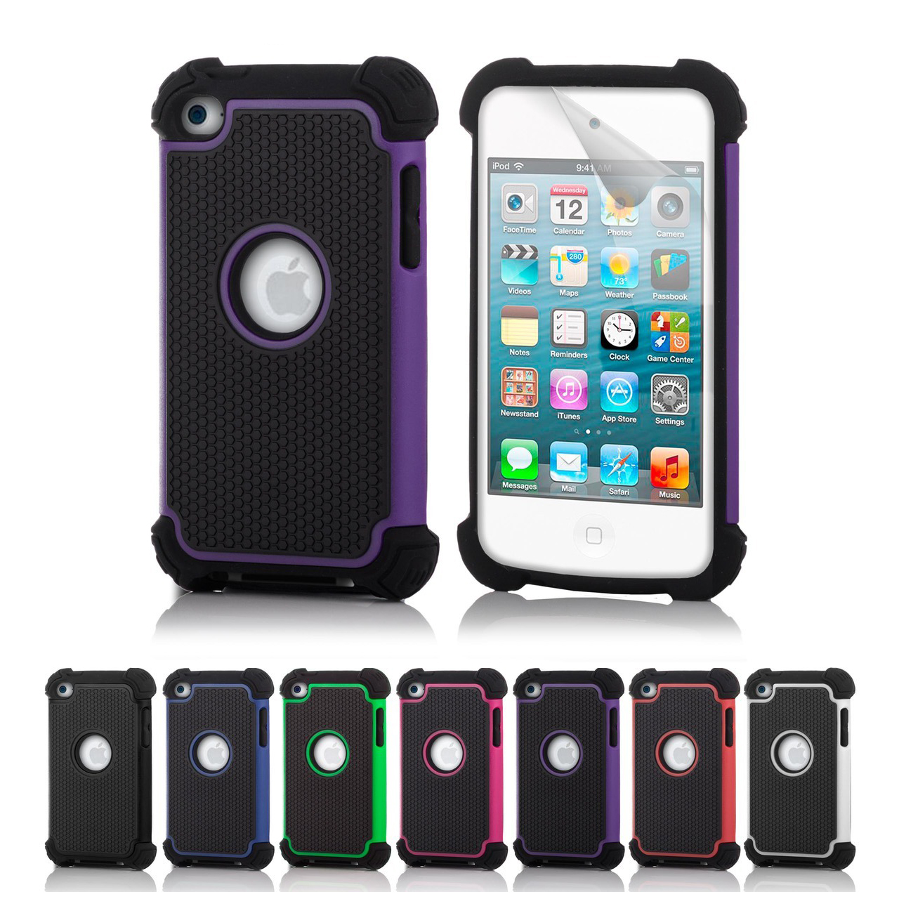 shock proof case cover for apple ipod touch 4 4th gen. Black Bedroom Furniture Sets. Home Design Ideas